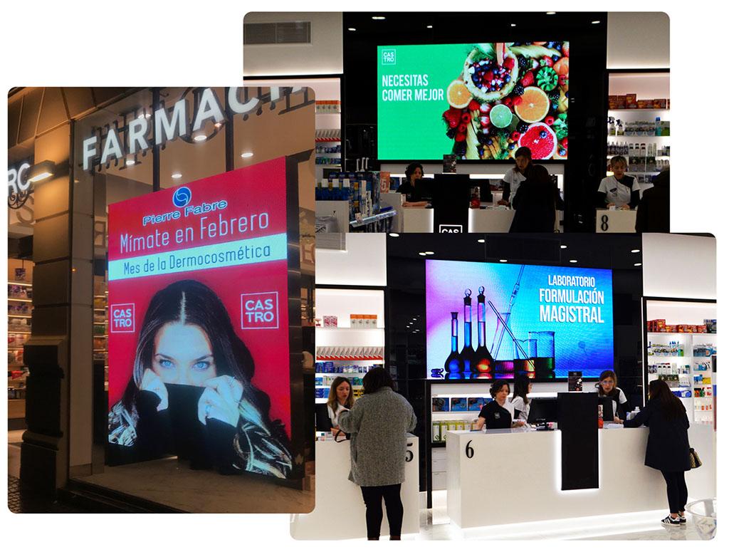 Pantallas led para farmacias para publicidad interior