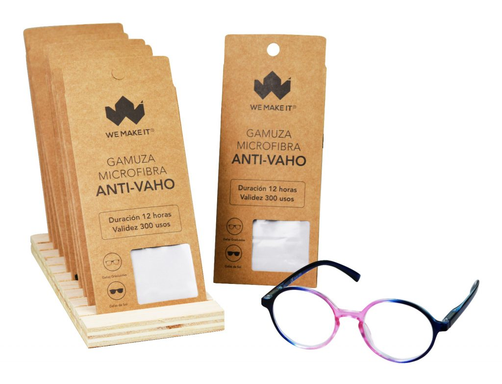 Toallita antivaho para gafas con mascarillas
